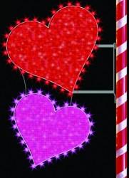 6' GLITTER MESH DOUBLE HEARTS