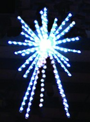 4', 3-D LED ROYAL STARBURST TREE TOPPER