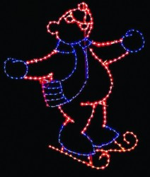 11' SKATING BEAR (FACING RIGHT)