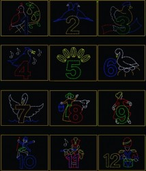 # 1 - A) THE COMPLETE SET OF 12 DAYS OF CHRISTMAS