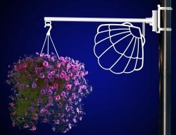 SHELL FLOWER BASKET HOLDER