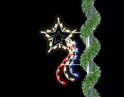 3' SILHOUETTE RISING STAR