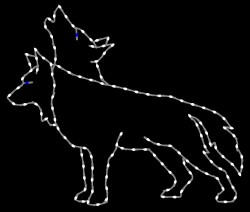 5 1/2' WOLF HOWLING, HEAD RAISED