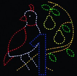 # 1- 10 1/2' x 10 1/2' PARTRIDGE IN PEAR TREE