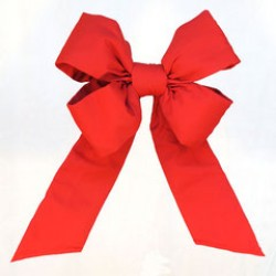 "OUTDURA - 12"" HEAVY DUTY RED BOW"