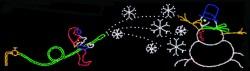 ELF MAKING SNOWMAN