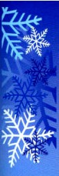 SNOWFLAKES BLUE & WHITE