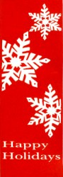 HAPPY HOLIDAYS WITH SNOWFLAKES