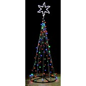12' ECONO TREE OF LIGHTS w/2 1/2' SILHOUETTE SIX POINT STAR