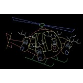 12' x 19' REINDEER FLYING HELICOPTER