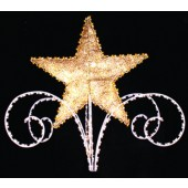 5', 3-D STAR AND SCROLL TREE TOPPER