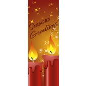 SEASON'S GREETINGS WITH CANDLE