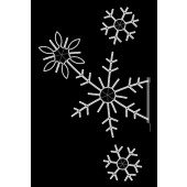 6.5' Snowflake Spray