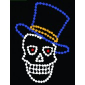 5 1/2' SKULL WITH TOP HAT