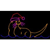 8' x 15' SEA OTTER WITH SANTA HAT