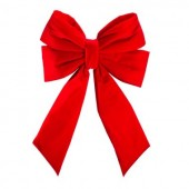 """18"""" Structural Bow with Red Velvet"""