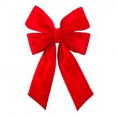 "24"" Structural Bow with Red Velvet Bow"