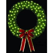 6' Wreath with C-7 clear incandescentlamps