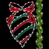 6' Enhanced Christmas Ball with Stripe