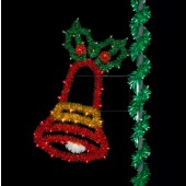 6' JOYFUL BELL WITH HOLLY LEAVES