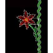 8' Enhanced Holiday Poinsettia