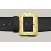 Naugahyde Santa Belt with Large Cast Decorative Buckle #9949