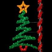 8' SPARKLING ZIG ZAG TREE