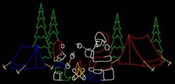Santa & Elf Camping