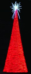 21' LED FULL ROUND SPIRAL FANTASY TREE WITH 6' LED ROYAL STARBURST TREE TOPPER