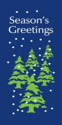 SEASON'S GREETINGS WITH GREEN TREES