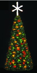FULL ROUND ROCKY MOUNTAIN PINE SPIRAL FANTASY TREE WITH 2 1/2' TREE TOPPER STAR