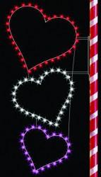 8' SILHOUETTE TRIPLE HEARTS