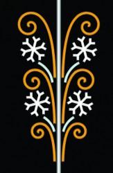 12' SNOWFLAKE SCROLL CASCADE