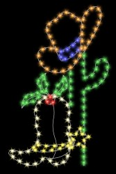 7' CACTUS WITH COWBOY HAT & BOOT