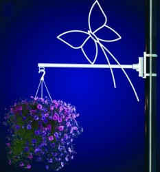 BUTTERFLY FLOWER BASKET HOLDER