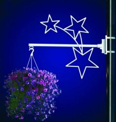 STARS FLOWER BASKET HOLDER