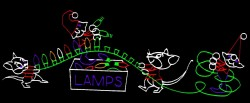 13' x 40' ELVES & MICE CHRISTMAS LIGHT MAKERS