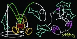 12' x 24' ESKIMO FISHING & POLAR BEAR SNACKING