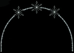 23' x 34' CRYSTAL SNOWFLAKE ARCH