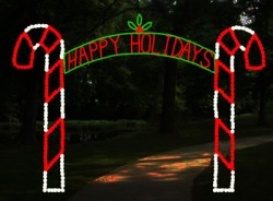 CANDY CANE ARCH 12' HAPPY HOLIDAYS