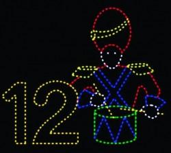 #12 - 11' x 13' TWELVE DRUMMERS DRUMMING