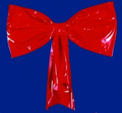 RED VINYL STEEL FRAMED HEAVY DUTY BOW