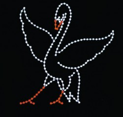 12' SILHOUETTE SWAN (WINGS OUT)