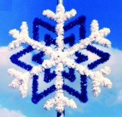 7' CENTER MOUNT SNOWFLAKE