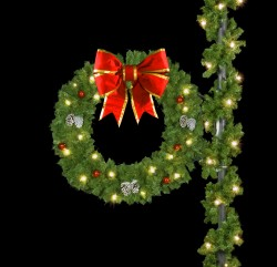 "60"" DELUXE BOW WREATH"