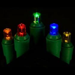 70 L.E.D. POLKA-DOT LIGHTS STEADY BURN MULTI COLORED
