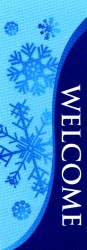 WELCOME WITH SNOWFLAKES