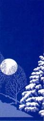 WINTER SCENE TREES & MOON