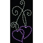 8' DUAL HEARTS