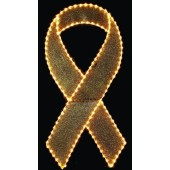 8' YELLOW RIBBON WITH GLITTER MESH
